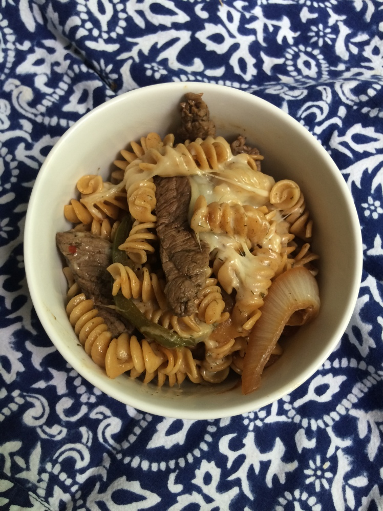 Philly Cheese Steak Pasta 3