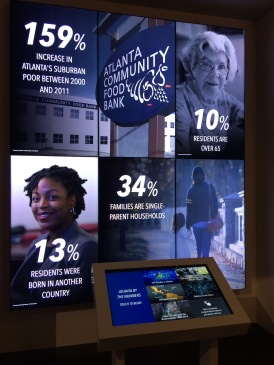 Interactive Atlanta demographics display.